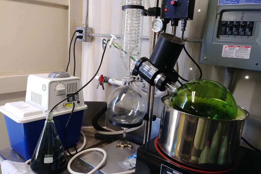 R&D Lab Setup with Rotary Evaporator